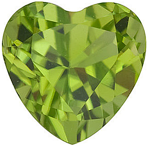 Heart Cut Peridot Gemstones Grade AAA