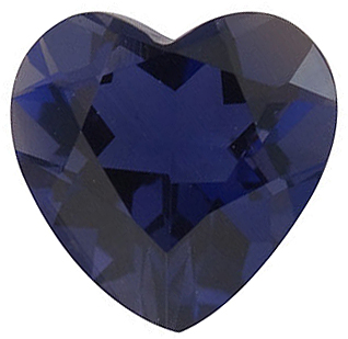Heart Shape Iolite Real Quality Cut Gemstone  Grade AAA 5.00 mm in Size