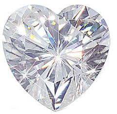 Heart Shape Moissanite Genuine Charles & Colvard Gemstone Grade AAA 0.52 carats,  5.50 mm in Size