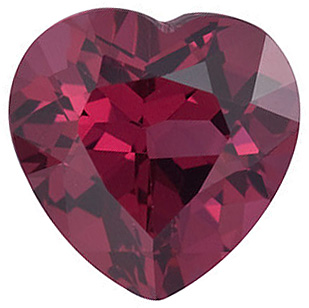 Fine Natural Calibrated Heart Shape Rhodolite Garnet Grade AAA, 6.00 mm in Size, 1.1 carats