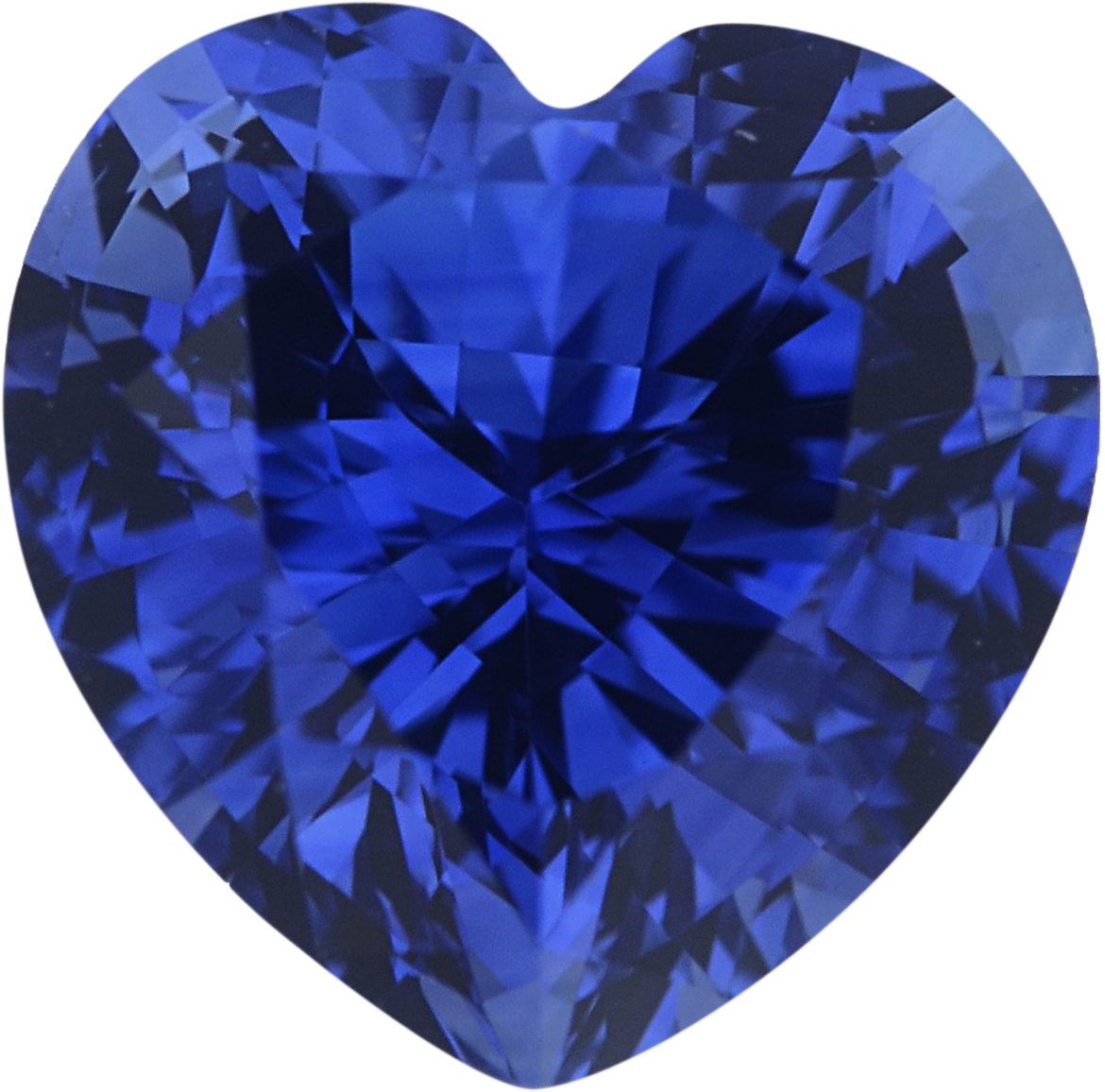 1.06 carats Blue Loose Sapphire Gemstone in Heart Cut, 6.03 x 6.03 mm
