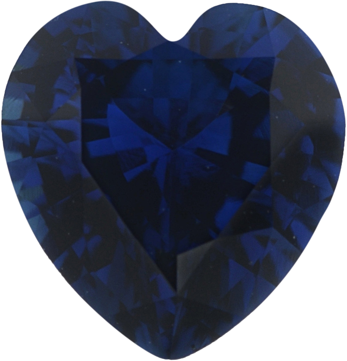 0.84 carats Blue Loose Sapphire Gemstone in Heart Cut, 6.13 x 5.83 mm