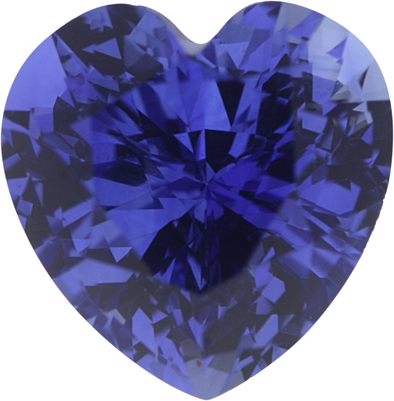1.44 carats Blue Loose Sapphire Gemstone in Heart Cut, 6.7 x 6.62 mm