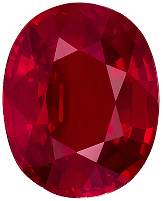 High Color  Untreated Ruby Oval Cut Loose Gemstone Vivid Rich Red, 9.77 x 7.82 x 4.35 mm, 2.95 carats, GRS Certified