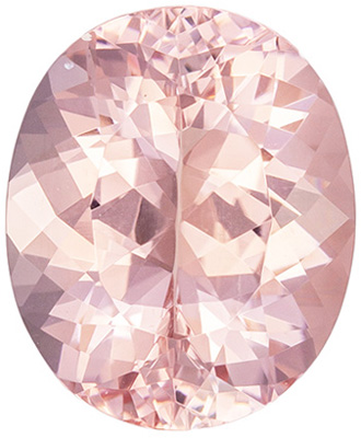 Highly Desirable Morganite Loose Gemstone, Pure Peach, Oval Cut, 11 x 9.1 mm, 3.27 carats