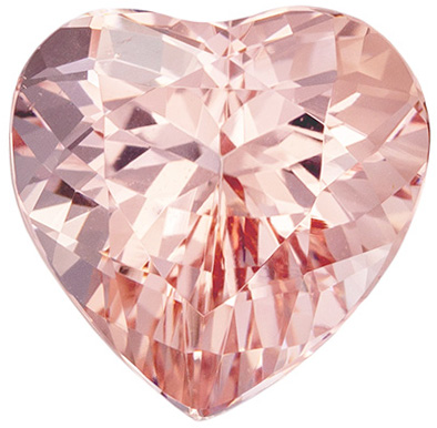 Highly Desired Morganite Genuine Gem, Heart Cut, Rich Pure Pink, 3.01 carats , 9.6 x 9.5 mm