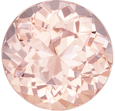 Highly Desired Morganite Loose Gem, 10 mm, Vivid Rich Peach, Round Cut, 3.28 carats