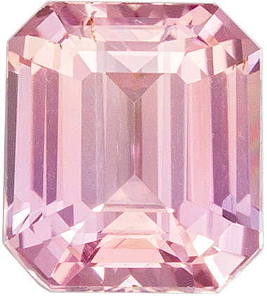 Chic Untreated GIA Certified Peach Sapphire Gemstone, Pink Orange Peach, Emerald Cut, 5.73 x 5.1 x 3.48 mm, 1.02 carats