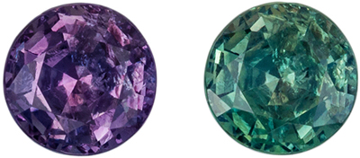 Highly Requested Alexandrite Loose Gem, Round Cut, Teal Blue Green to Burgundy, 4.1 mm, 0.36 carats