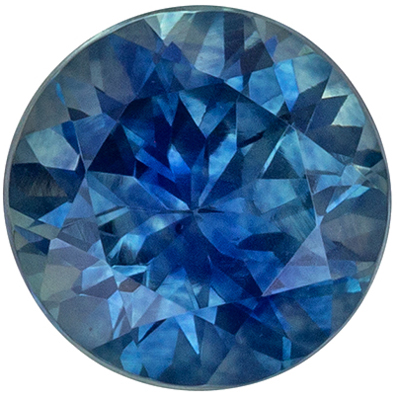 Highly Requested Blue Green Sapphire Genuine Gemstone in Round Cut, 6.1 mm, Teal Blue Green, 1.27 carats