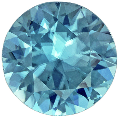 Highly Requested Blue Zircon Loose Gem in Round Cut, Rich Tealy Blue, 5.9 mm, 0.96 carats