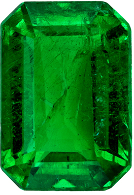 Highly Requested Emerald Genuine Gem, Vivid Rich Green, Emerald Cut, 6.8 x 4.7 mm, 0.89 carats