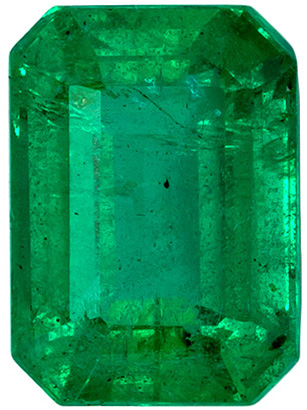 Highly Requested Ring Gem Emerald in Vivid Medium Green Color in Emerald Cut, 7 x 5 mm, 1.11 carats