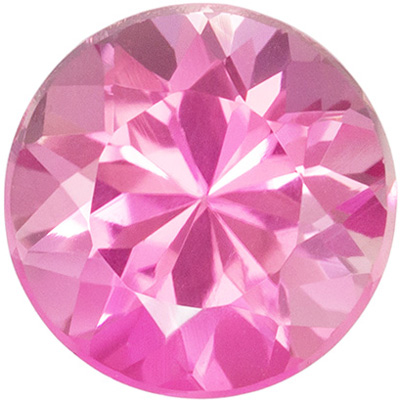 Highly Requested Pink Tourmaline Genuine Gem in Round Cut, 1.24 carats, Medium Baby Pink, 7 mm