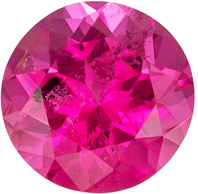 Highly Requested Pink Tourmaline Loose Gem in Round Cut, 1.34 carats, Medium Rich Pink, 7 mm