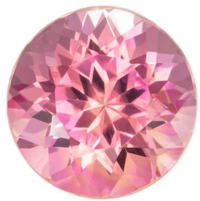 Highly Requested Pink Tourmaline Loose Gem in Round Cut, 2.53 carats, Medium Baby Pink, 8.5 mm