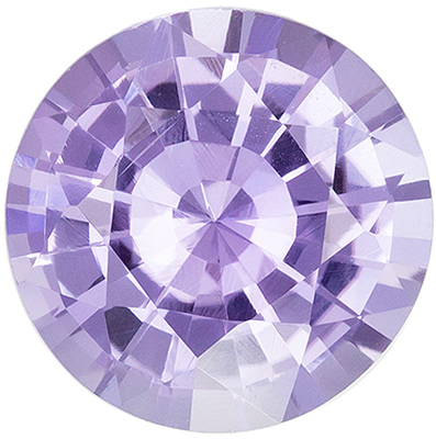 Highly Requested Purple Sapphire Loose Gem, Round Cut, Light Lavender Purple, 8.4 mm, 2.56 carats