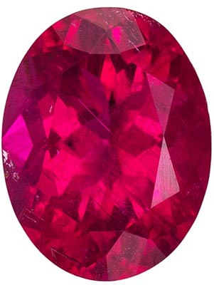 Highly Requested Rubellite Tourmaline Genuine Gem in Oval Cut, Vivid Rich Fuchsia, 9.1 x 7 mm, 1.89 carats