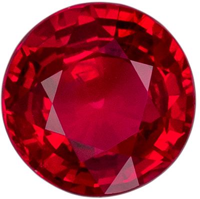 Highly Requested Ruby Genuine Gem, Medium Rich Red, Round Cut, 6.3 mm, 1.22 carats