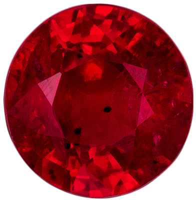 Highly Requested Ruby Loose Gem, 4.8 mm, Pure Rich Red, Round Cut, 0.54 carats