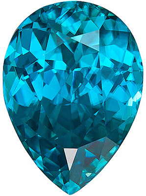Huge, Highest Quality, Beautiful Blue Zircon Natural Gem, Pear Cut, 11.9 carats