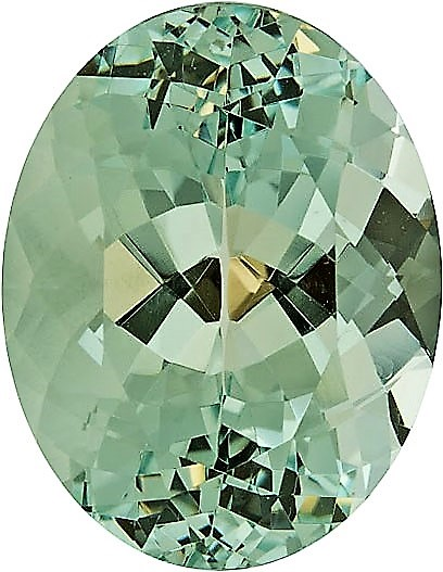 Huge Minty Green Beryl Gemstone, Germany Cut Beautiful No Heat Gem from Brazil, 21.6 x 16.3 mm, 23.84 carats