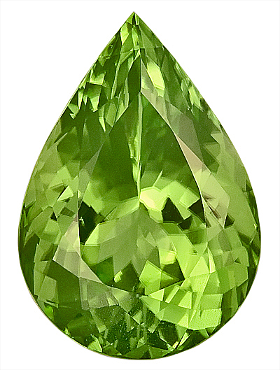Huge, Radiant and Beautiful Peridot Natural Gem, Pear Shape, 22 x 15.4 mm, 22.92 carats
