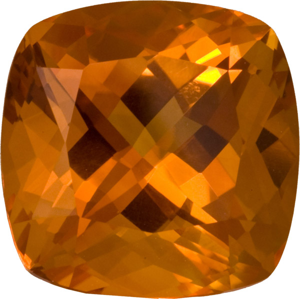 Huge Stunning Top Quality Citrine Loose Gem Stone in Antique Square Cut, German Cut, Vivid Color in 18.5 mm, 25.05 carats