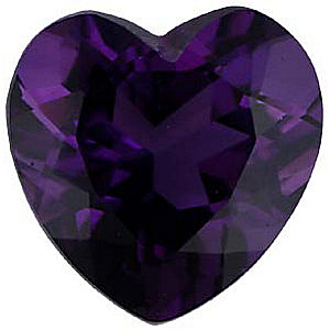 Imitation Amethyst Heart Cut Stones