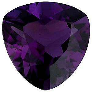 Imitation Amethyst Trillion Cut Stones