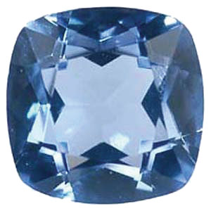 Imitation Aquamarine Antique Square Cut Stones