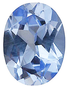Imitation Aquamarine Oval Cut Stones