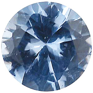 Imitation Aquamarine Round Cut Stones