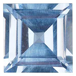 Imitation Aquamarine Square Cut Stones
