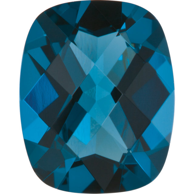 Imitation Blue Zircon Antique Cushion Cut Checkerboard Stones