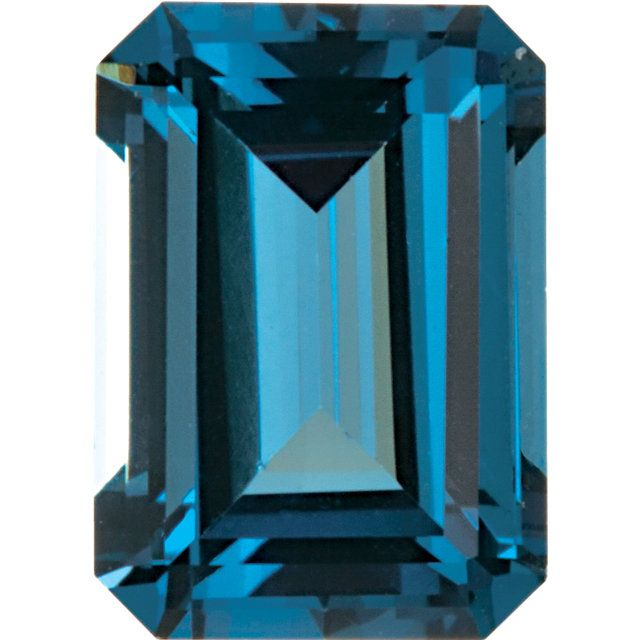 Imitation Blue Zircon Emerald Cut Stones