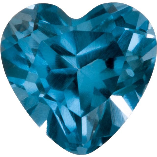 Imitation Blue Zircon Heart Cut Stones