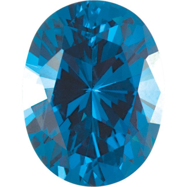Imitation Blue Zircon Oval Cut Stones