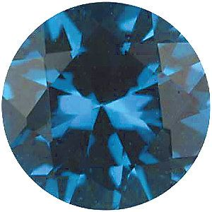 Imitation Blue Zircon Round Cut Stones