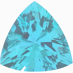 Imitation Blue Zircon Trillion Cut Stones