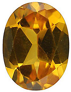 Imitation Citrine Oval Cut Stones