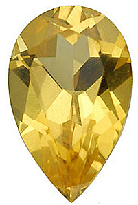 Imitation Citrine Pear Cut Stones