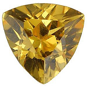 Imitation Citrine Trillion Cut Stones