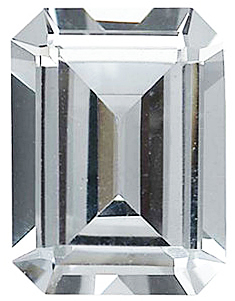 Imitation Diamond Emerald Cut