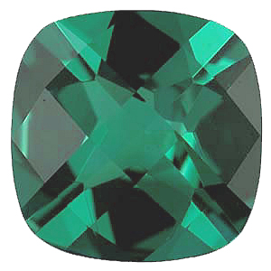 Imitation Emerald Antique Square Cut Checkerboard Stones