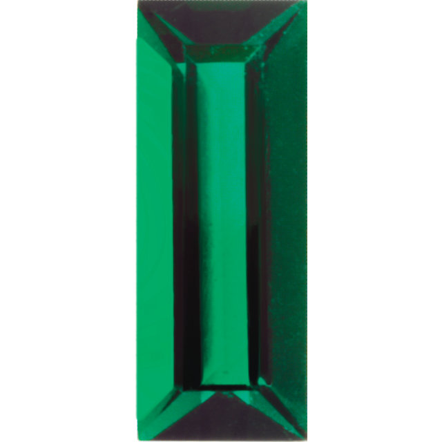 Imitation Emerald Baguette Cut Stones