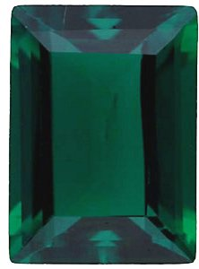 Imitation Emerald Cushion Cut Stones
