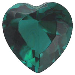 Imitation Emerald Heart Cut Stones