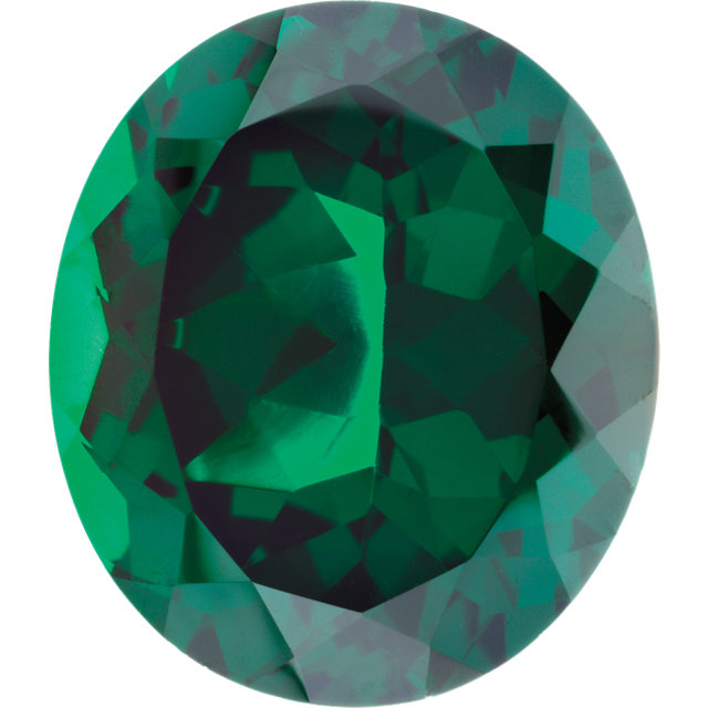Imitation Emerald Oval Cut Stones