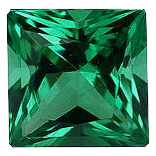 Imitation Emerald Princess Cut Stones